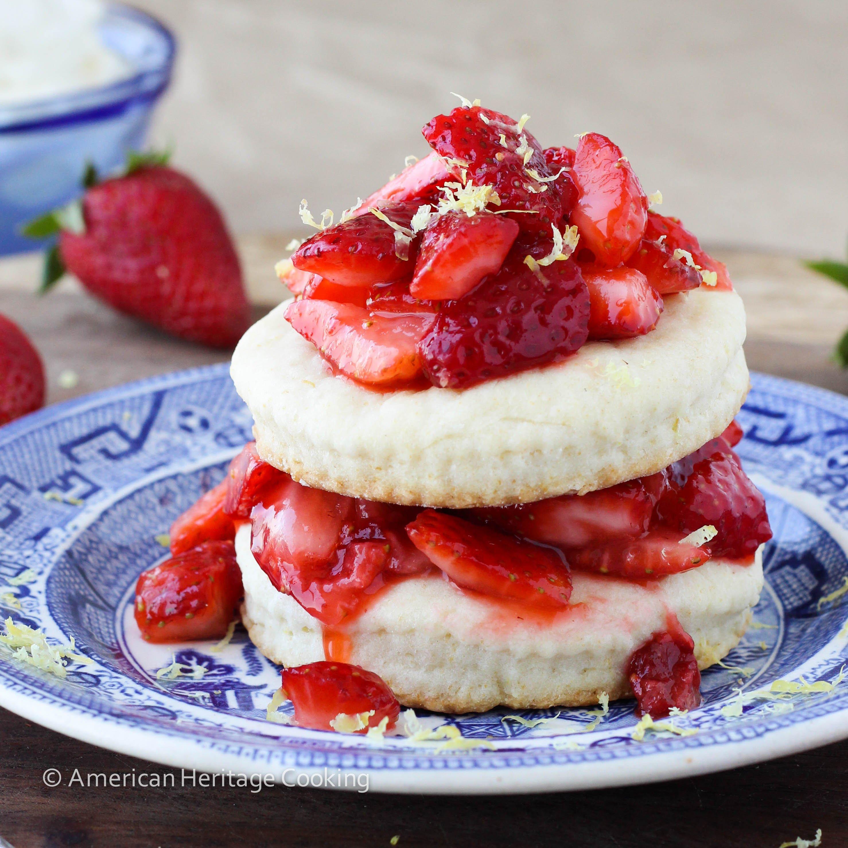 Easy Lemon Strawberry Shortcake {For Two}