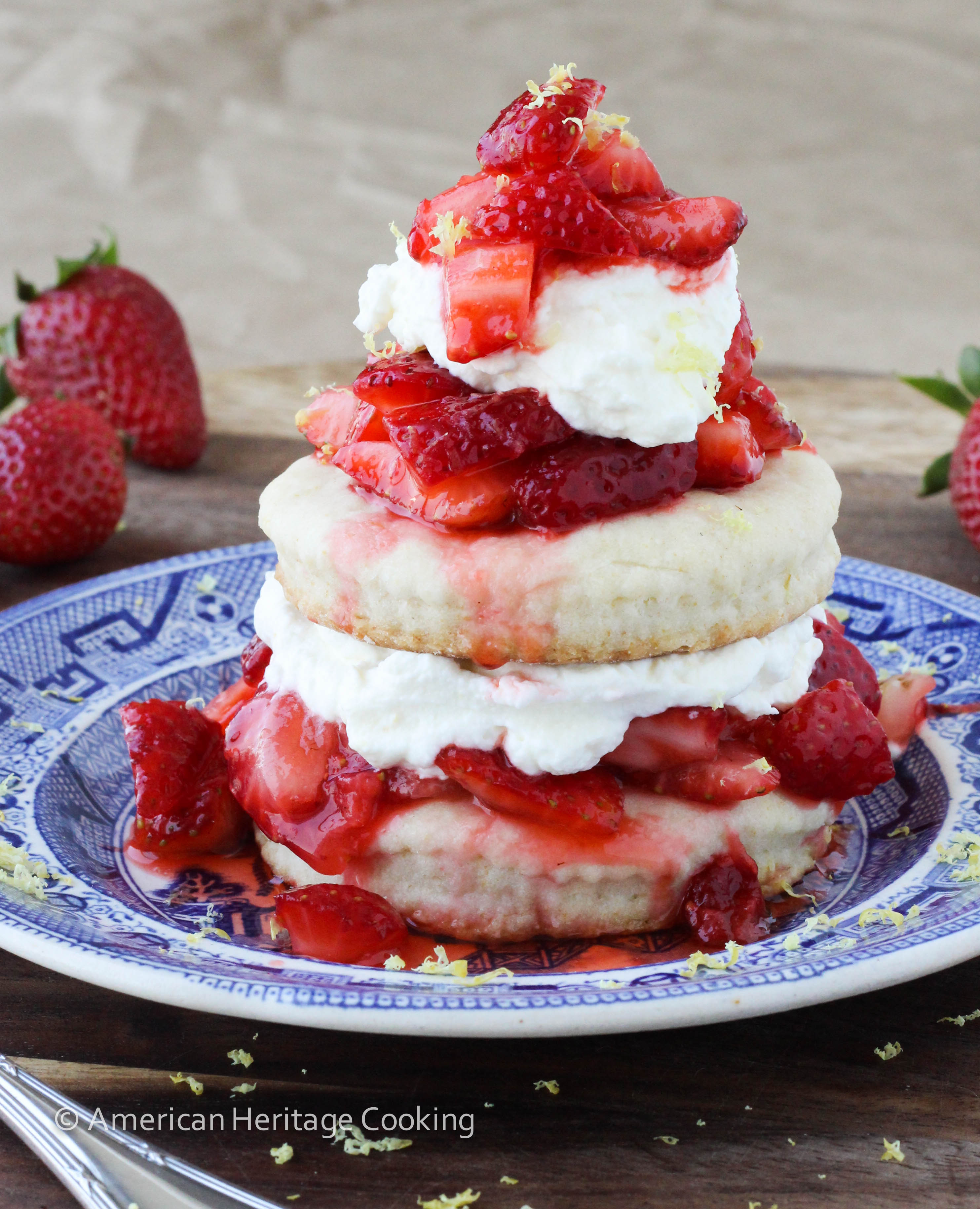 Easy Lemon Strawberry Shortcake {For Two} - American Heritage Cooking