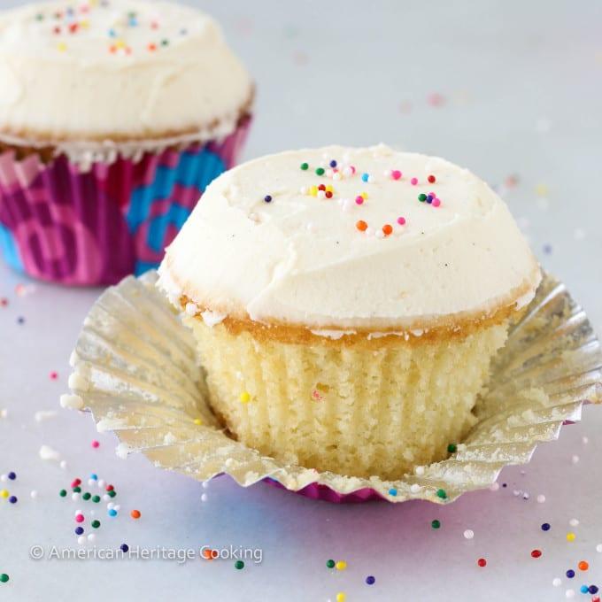 vanilla flavored cupcakes