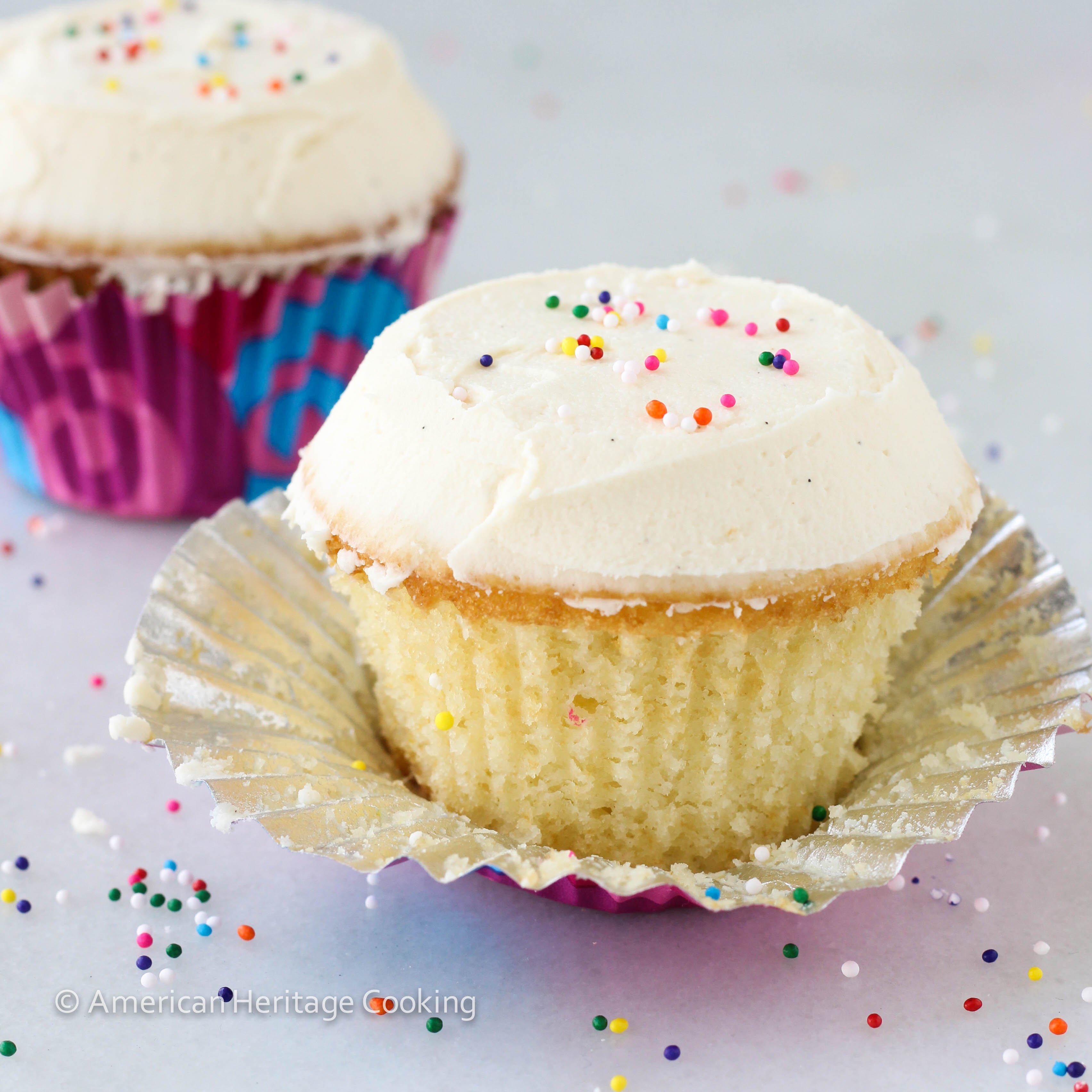 Sprinkles Copycat Vanilla Cupcakes - American Heritage Cooking