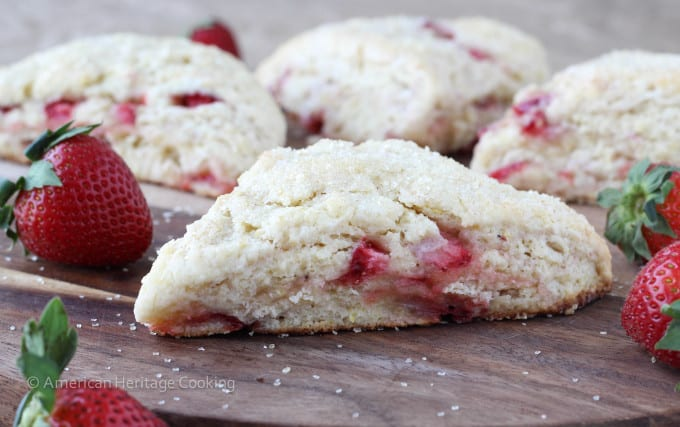 Strawberry Lemon Scones