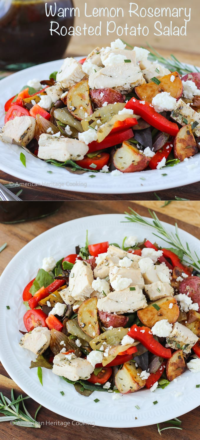 Warm Lemon Rosemary Roasted Potato Salad