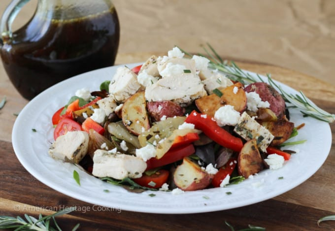 Warm Lemon Rosemary Roasted Vegetable Salad