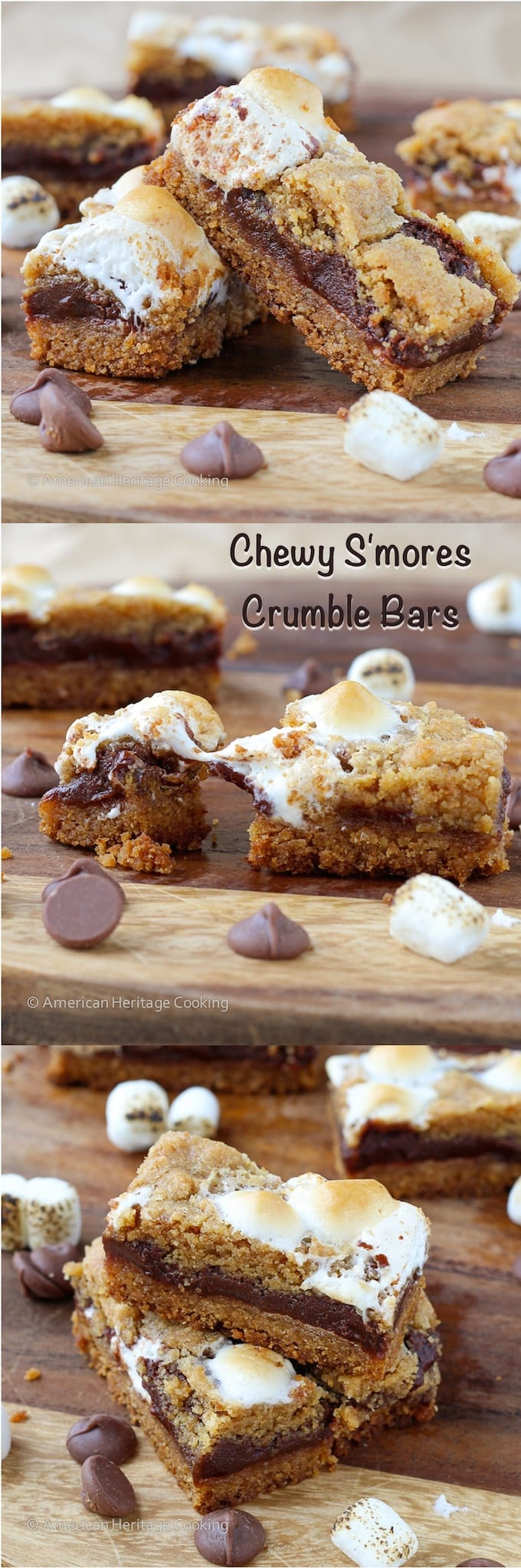 Chewy S'mores Crumble Bars