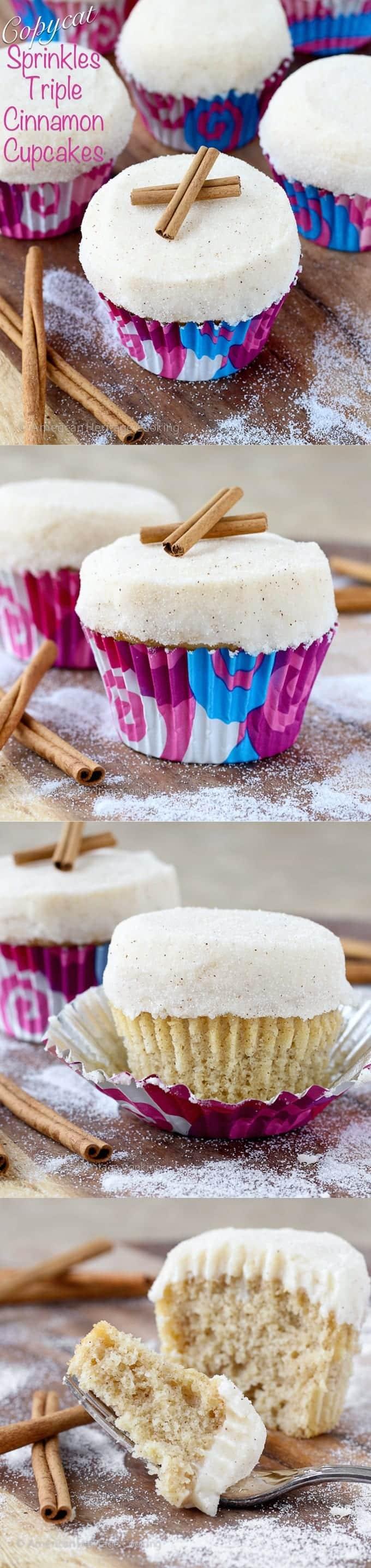 Copycat Sprinkles Triple Cinnamon Cupcake