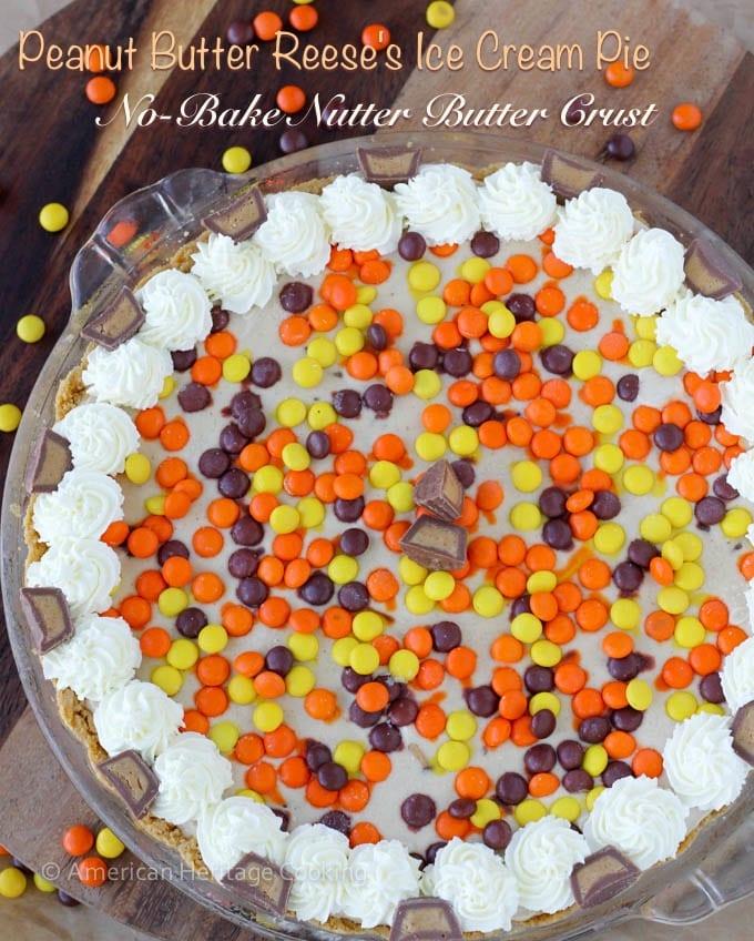 Peanut Butter Reeses Ice Cream Pie Nutter Butter Crust