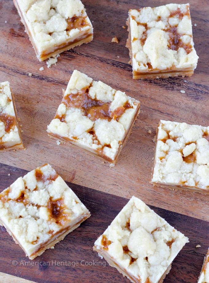Salted Caramel Butter Bars - American Heritage Cooking