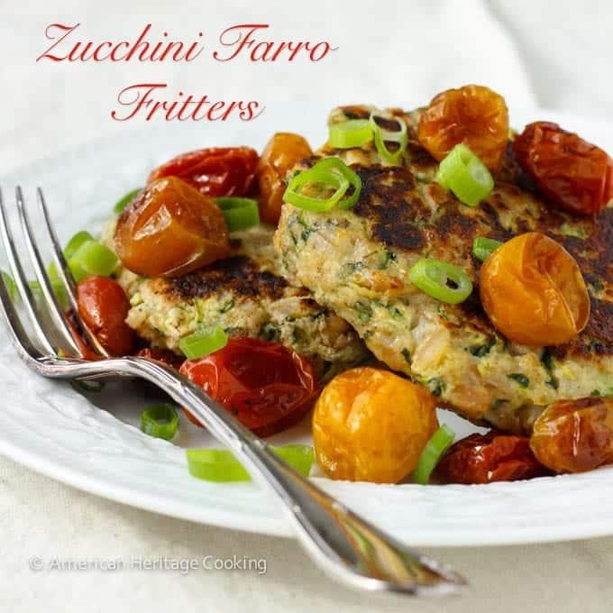 Zucchini Farro Fritters