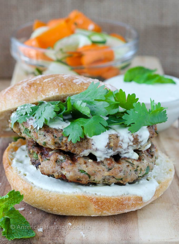 Fiery Chili Chicken Burgers
