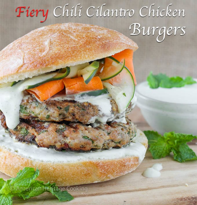 Fiery Chili Chicken Burgers