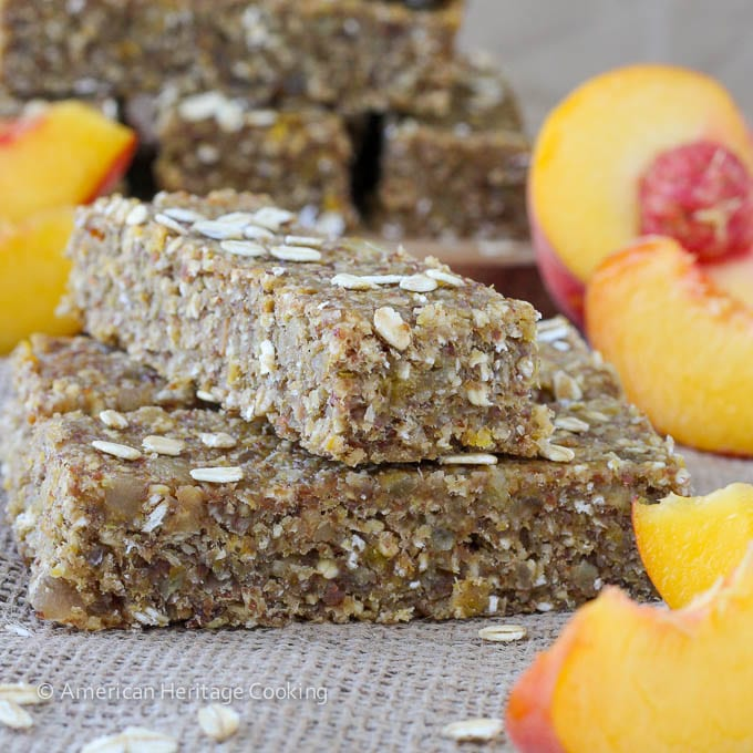 Healthy Ginger Peach Oat Bars