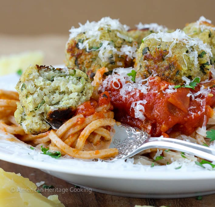 Quinoa Vegetarian Meatballs {GF Option}