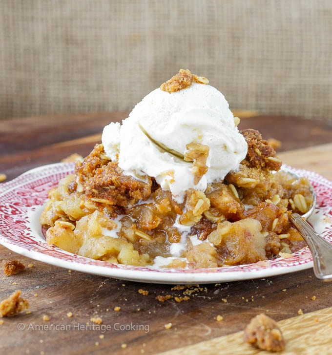 Moms Brown Sugar Apple Crisp