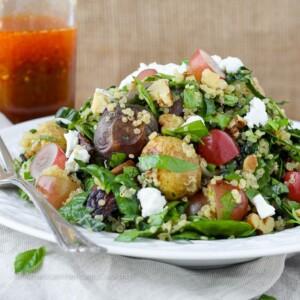 Quinoa Roasted Vegetable Chopped Salad