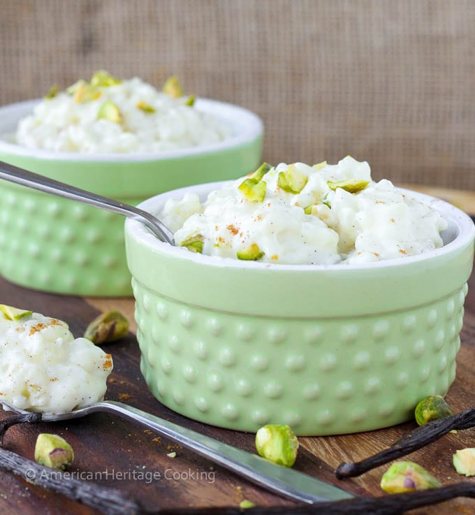 Vanilla Bean Rice Pudding - American Heritage Cooking