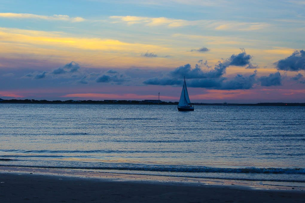 Thanksgiving 2014 - A Post about thankfulness and what I am particularly thankful for this year. Photo of Bald Head Island at Sunsest