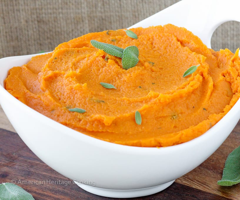 Brown Butter Sage Mashed Sweet Potatoes will liven up any meal! Easy ...