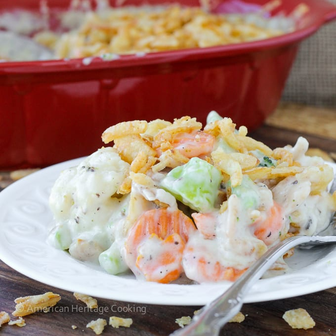 Easy Creamy Swiss Cheese Mixed Vegetable Casserole | American Heritage Cooking