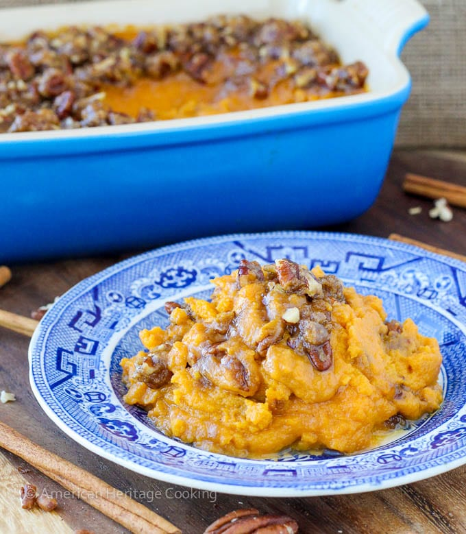 Sweet Potato Casserole Lightened Up | American Heritage Cooking