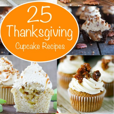 25 Thanksgiving Dessert Cupcakes! | Your favorite holiday desserts transformed into adorable cupcakes!