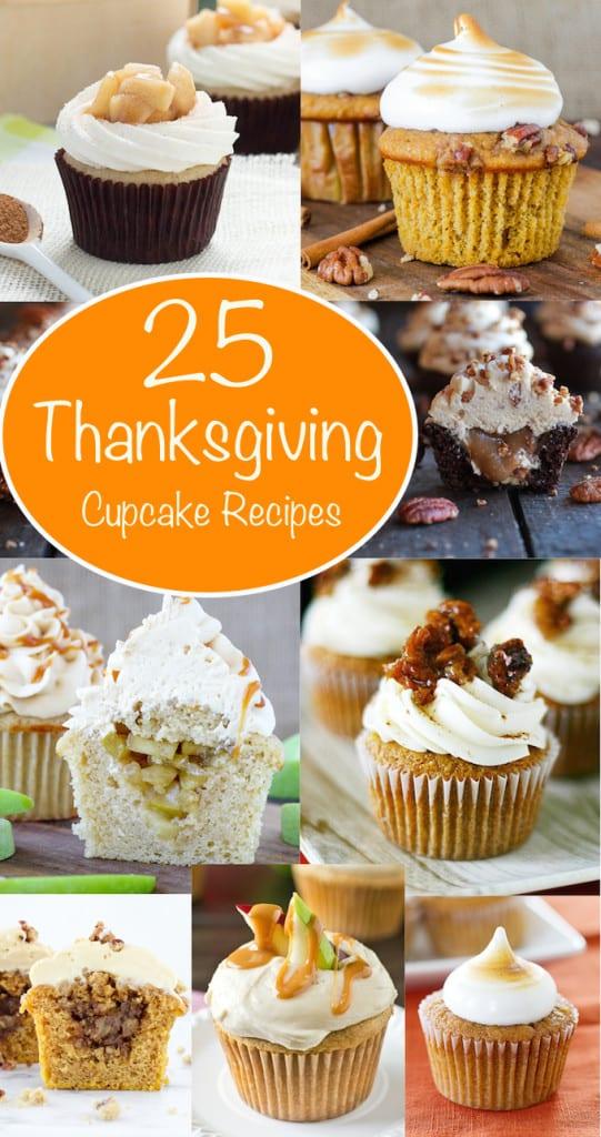 Thanksgiving Dessert Cupcake Round Up