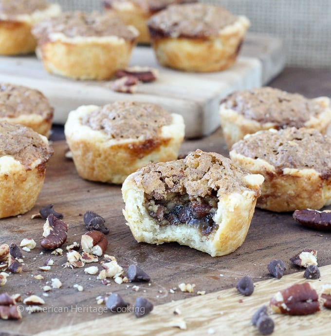Chocolate Pecan Tassies