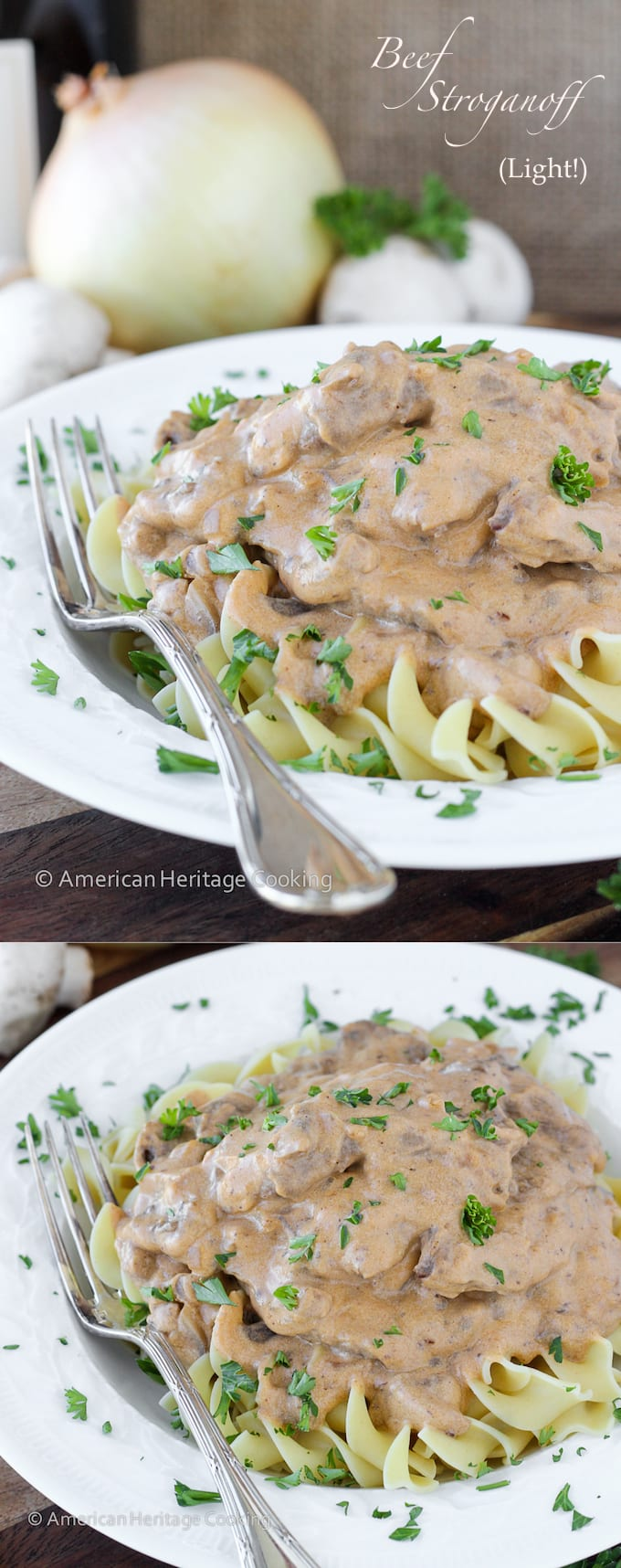 This Healthy Beef Stroganoff has all of the familiar flavor with none of the guilt!