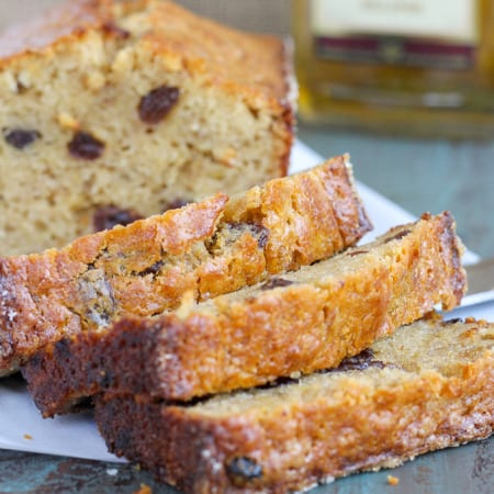 This Brown Butter Rum Raisin Banana Bread is a sinfully delicious combination of nutty brown butter, rum soaked raisins and incredibly moist banana bread! So delicious, you won't want the loaf to end!