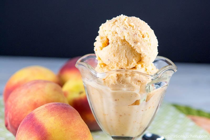 Fresh Peach Ice Cream {Guest Post}
