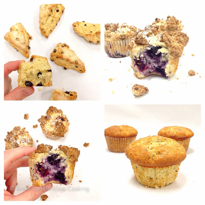Culinary School Update Part 3 : Scones, Blueberry Crumb Muffins and Lemon Poppyseed Muffins