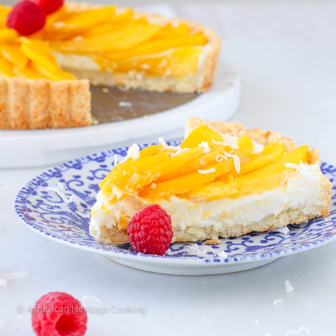 You will love this Coconut Mango Tart! It is fresh and perfect for Summer!