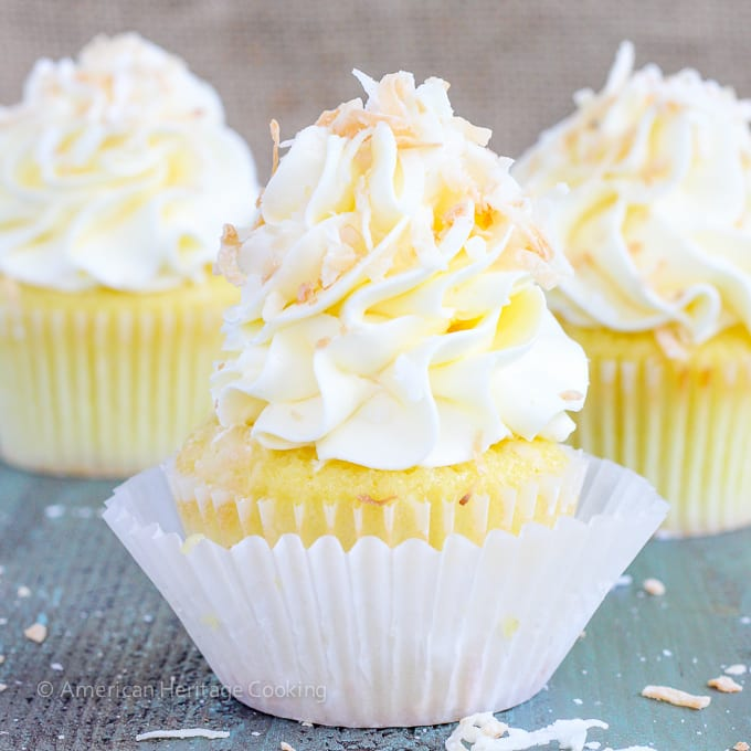 Lemon Coconut Cupcakes {Italian Meringue Buttercream ...