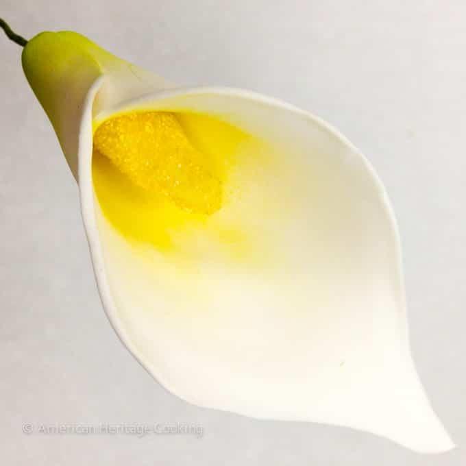 Culinary School Update 4 - Sugar Paste Cala lily