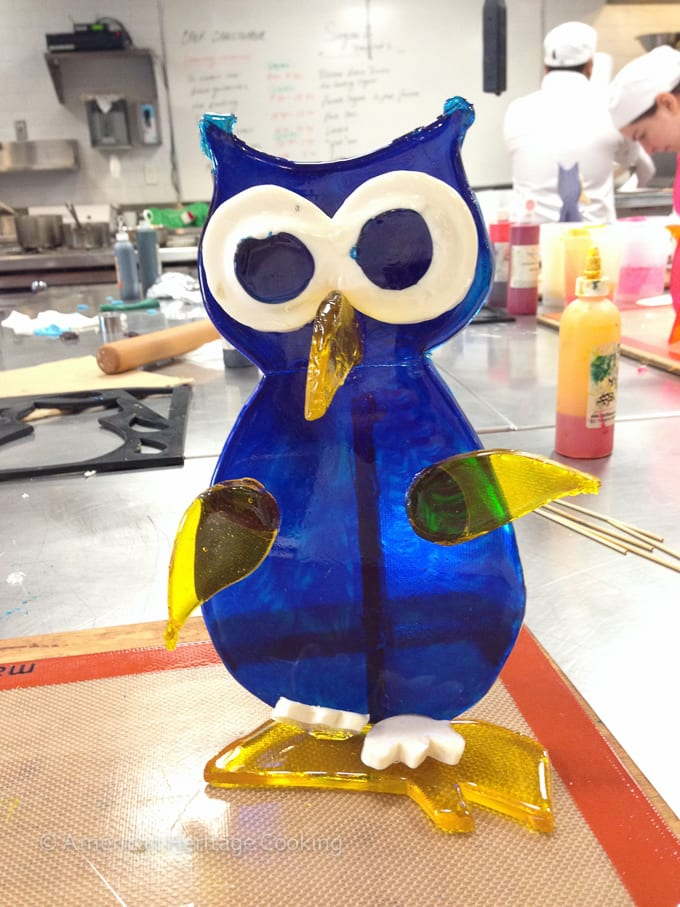 Culinary School Update 4 - Poured Sugar Owl