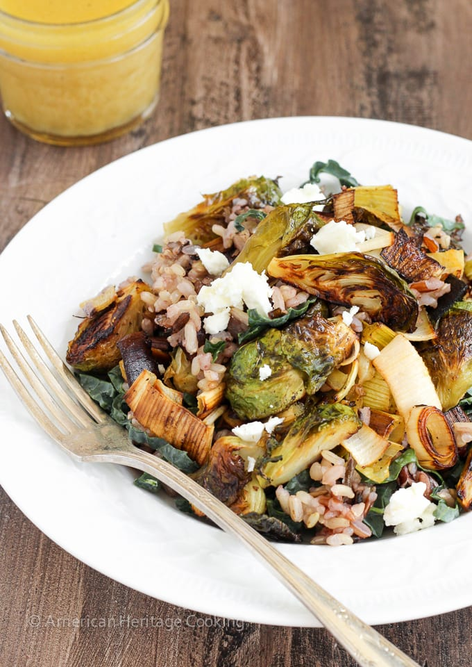 Roasted Honey Orange Brussels Sprouts Wild Rice Salad - An easy, healthy and filling meal!