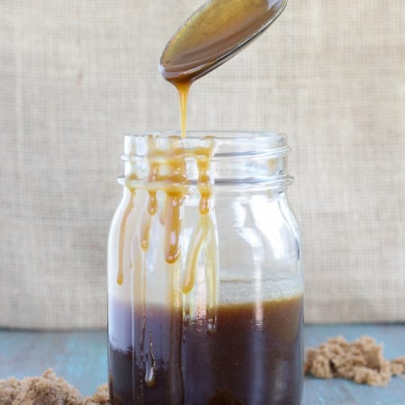 This Butterscotch Sauce is easy and fast! it comes together in 5 minutes and tastes so much better than caramel!
