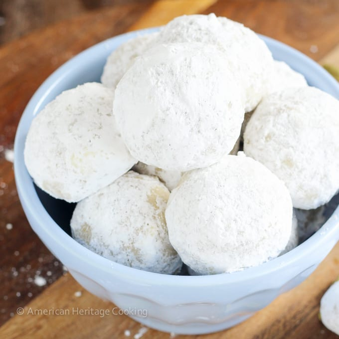 In these Cardamom Walnut Snowballs toasted walnuts blend perfectly with warm cardamom. Plus who can resist a cookie coated in powdered sugar?!