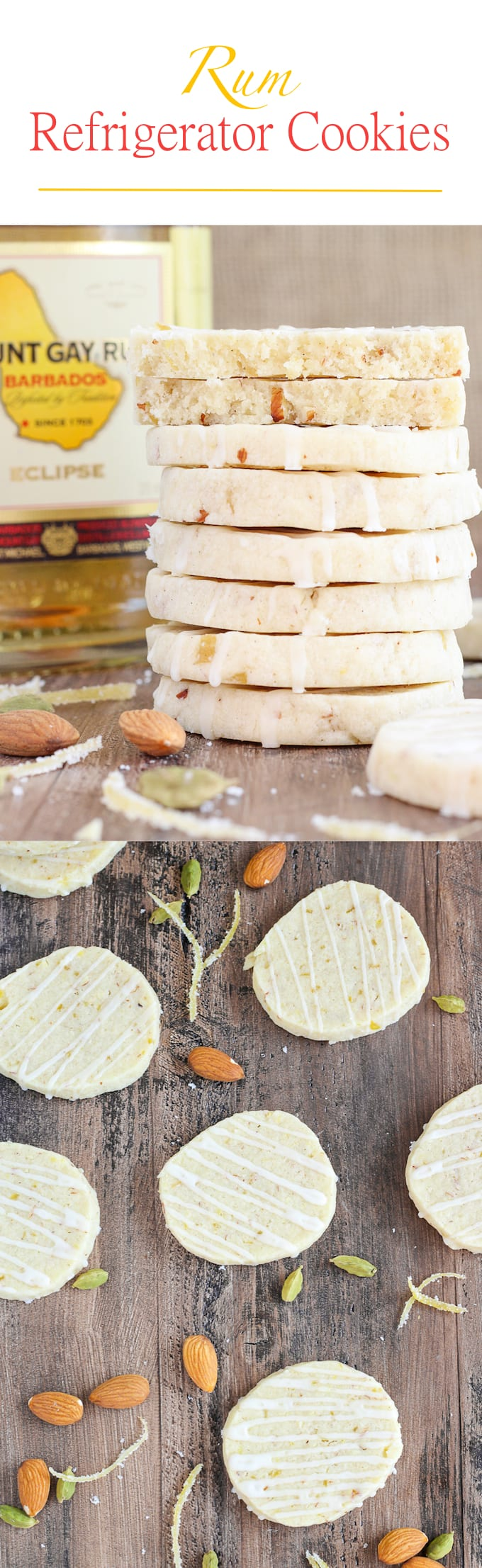 Rum Refrigerator Cookies: Soft, chewy and moist – these cookies' cardamom and citrus notes will positively brighten your holidays. A little nuttiness from the almonds rounds out these absolutely sensational cookies.