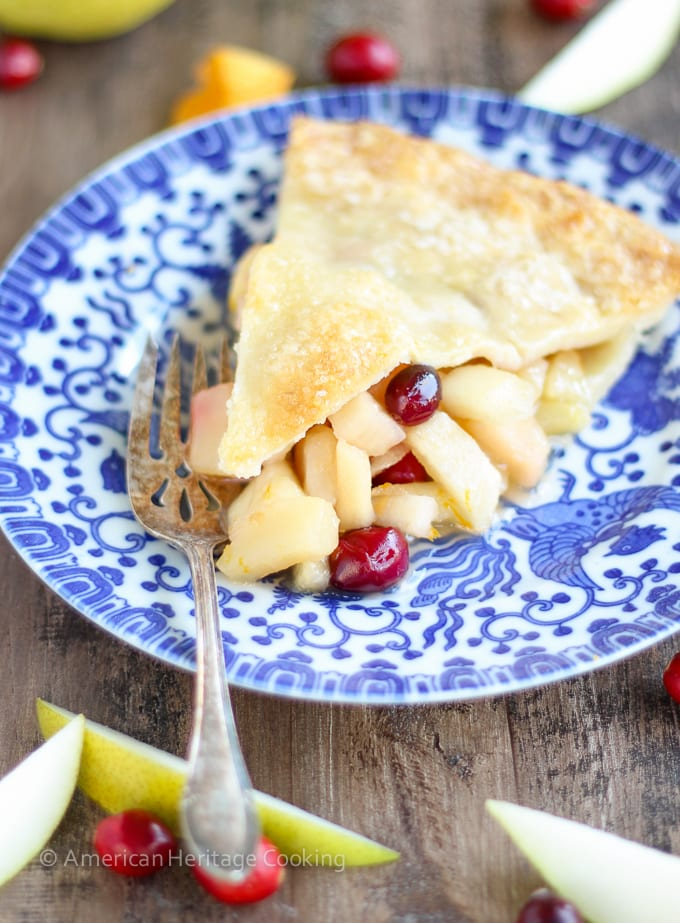 Cranberry Orange Pear Pie