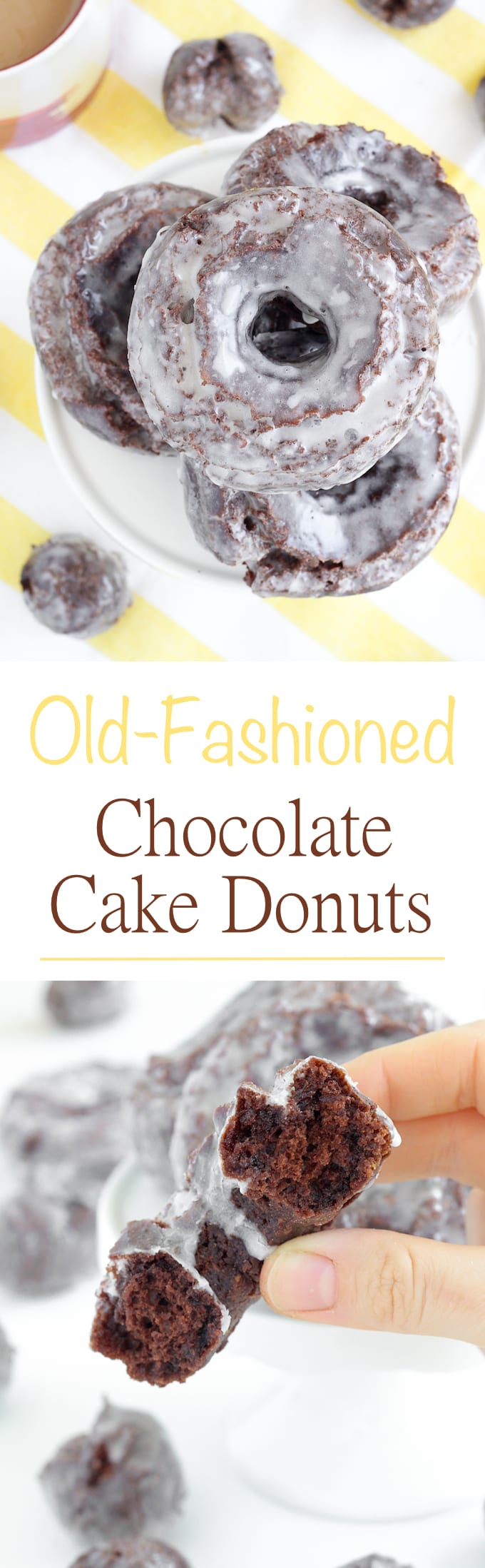 These old fashioned chocolate cake donuts are light and perfectly ...