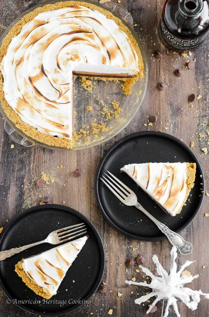 No Bake Whiskey Smores Pie