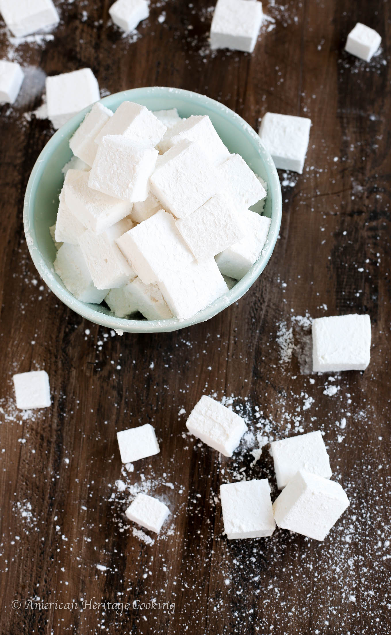 Instantly elevate your hot chocolate, s'mores, or campfire game with these homemade marshmallows! They are soft and fluffy, and perfectly sweet with just a hint of vanilla.