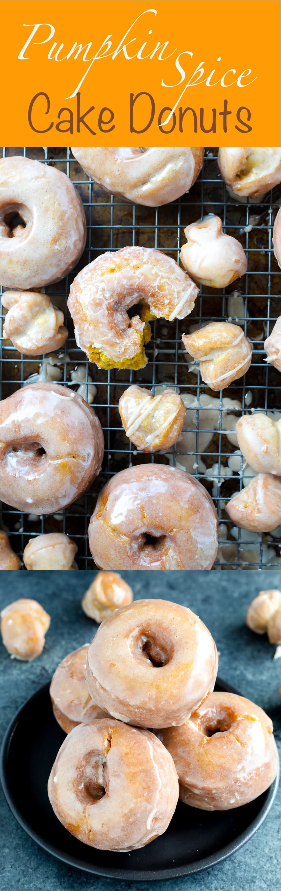These Pumpkin Spice Cake Donuts are packed with real pumpkin and warming spices then fried to perfection and glazed with a sweet cinnamon sugar. Pretty much Pumpkin Breakfast Perfection.
