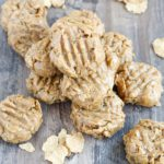 These 5 ingredient 0No Bake Peanut Butter Cookies are soft and crunchy and chewy all at the same time! The sweet peanut butter flavor will have you reaching for another!