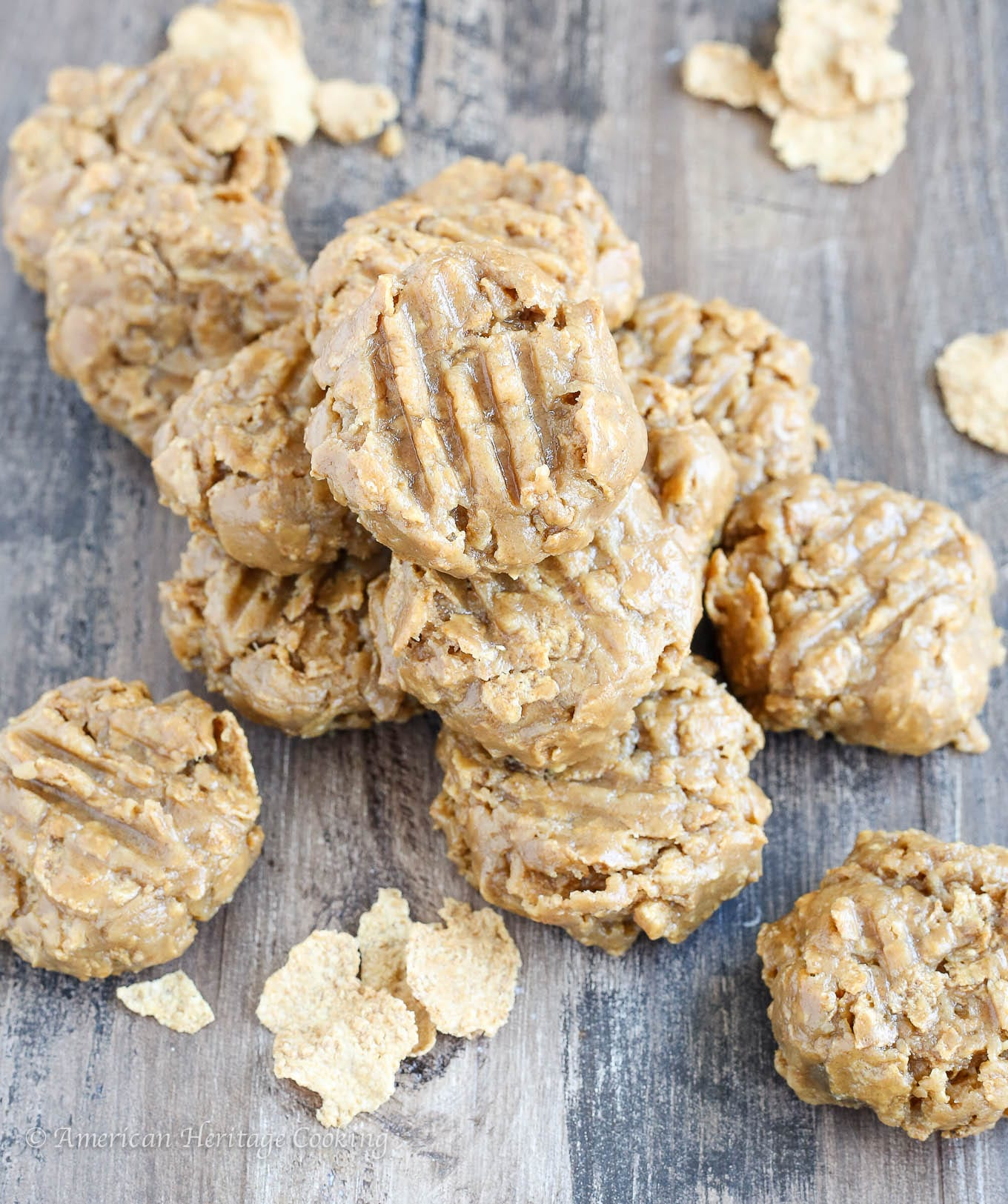 These 5 ingredient No Bake Peanut Butter Cookies are soft and crunchy and chewy all at the same time! The sweet peanut butter flavor will have you reaching for another!