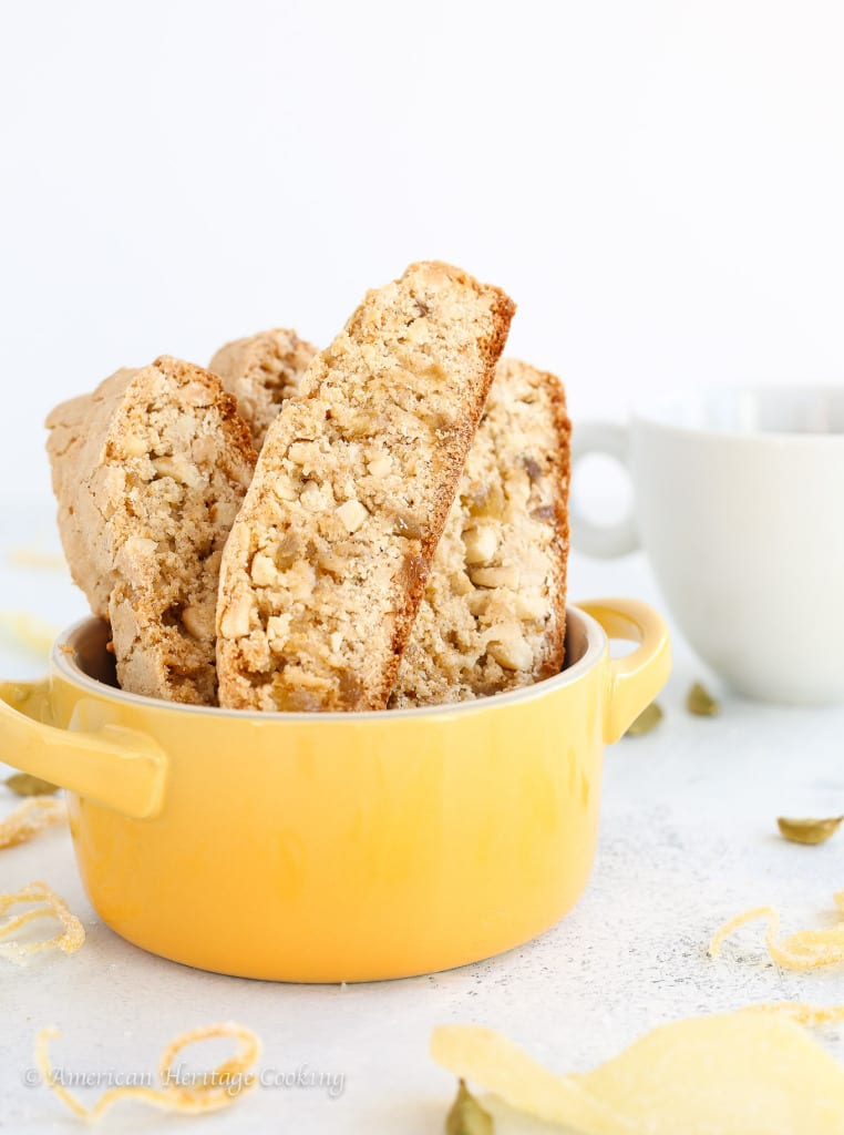 Ginger Orange Almond Biscotti