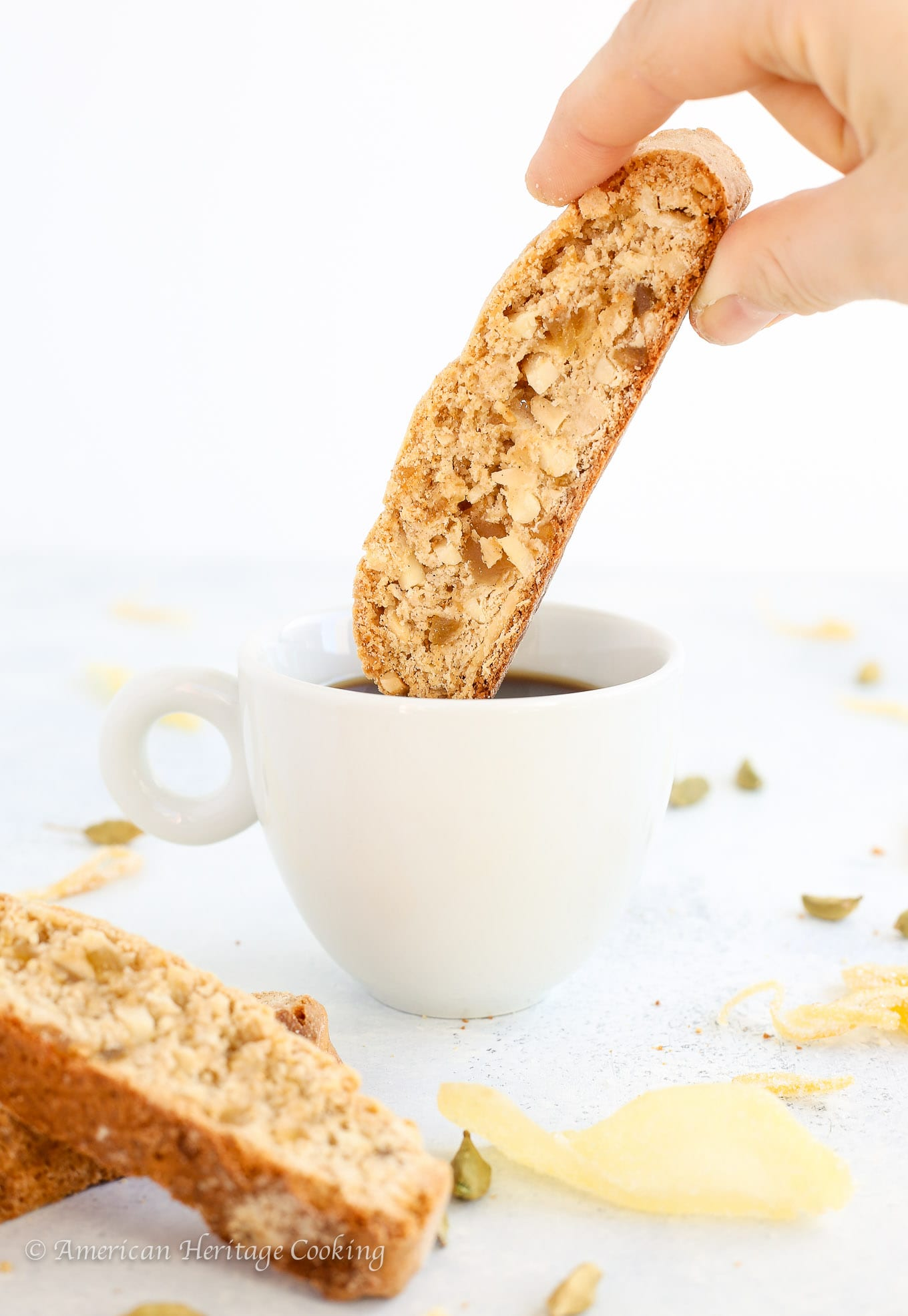 These sensational Ginger Orange Almond Biscotti are a little bit spicy and  bit sweet! They