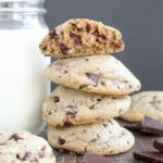 These Chewy Peanut Butter Chocolate Chip Cookies are soft and thick just like your favorite chewy chocolate chip cookie but packed with peanut butter flavor.