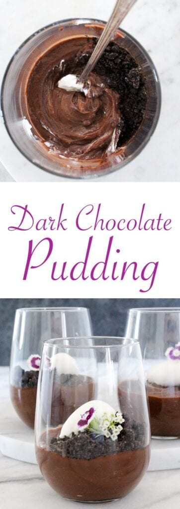A rich, creamy dark chocolate pudding!