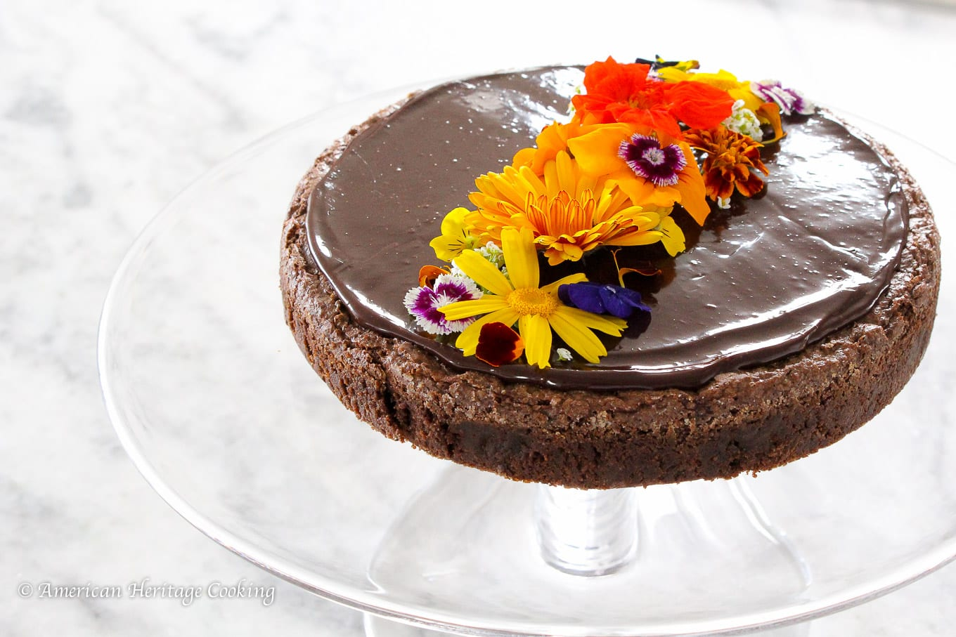 This Hazelnut flourless chocolate cake is rich and chocolatey